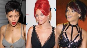 Rihanna Boob Job, rhianna before and after