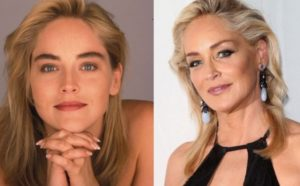sharon stone facelift, sharon stone nose