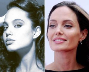 angelina jolie before and after nose job, angelina jolie before nose job